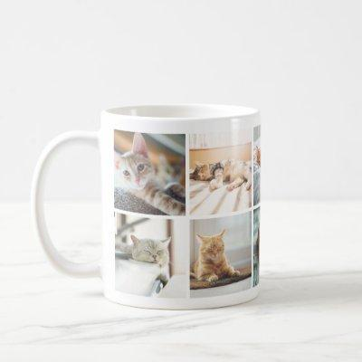 Cat Lovers' Memories Photo Collage Mug
