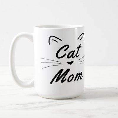 Cat Mom Coffee Mug