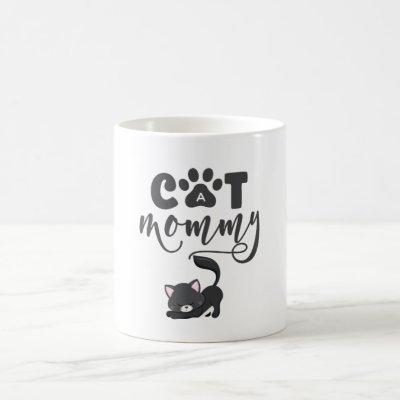 Cat Mommy Mug with Cute Gray Kitten