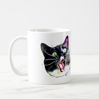 """Cat Mug- """"I came, I saw, I FRAZZED"""" Coffee Mug"""
