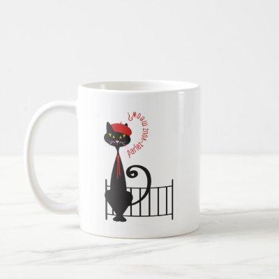 Cat Mug - Parlez-Vouz Meow?