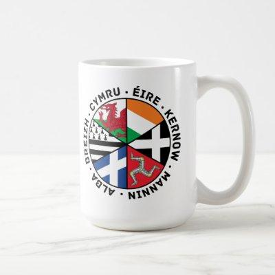 Celtic Nations Flags Coffee Mug