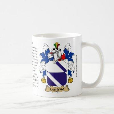 Centeno, the Origin, the Meaning and the Crest Coffee Mug