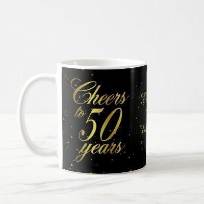 Cheers to 50 Years 50th Birthday Coffee Mug