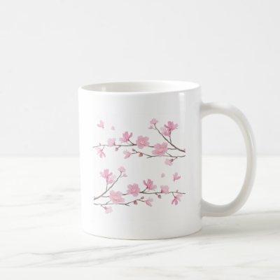 Cherry Blossom - White Background Coffee Mug