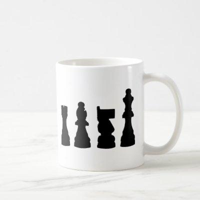 Chess piece silhouette design coffee mug