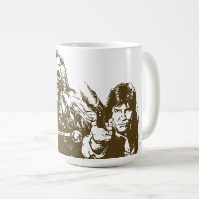 Chewie and Han Silhouette Coffee Mug