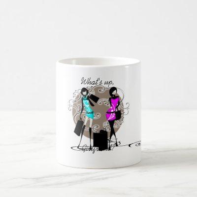 Chic sassy fashion divas girls coffee mug