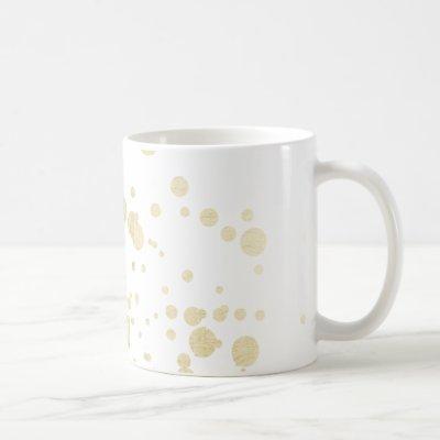 Chic trendy white faux gold elegant confetti dots coffee mug