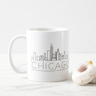 Chicago Stylized Skyline Coffee Mug