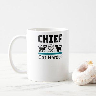 Chief Cat Herder Funny Coffee Mug