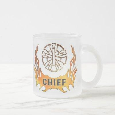 Chief's Flames Frosted Glass Coffee Mug