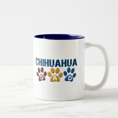 CHIHUAHUA Dad Paw Print 1 Two-Tone Coffee Mug