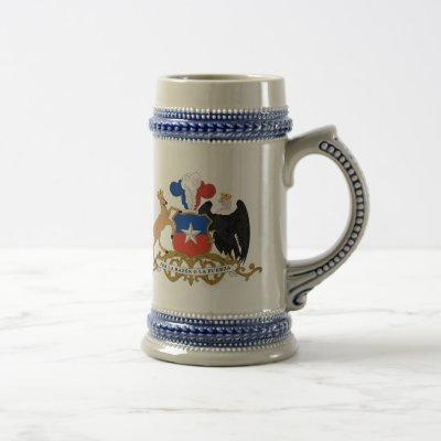 Chile - coat of arms. beer stein