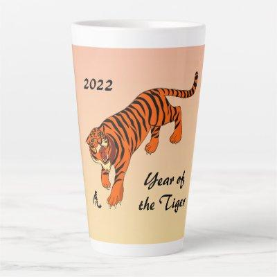 Chinese New Year of the Tiger Latte Mug