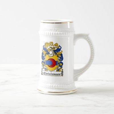 Christensen Family Crest Beer Stein