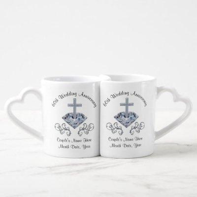Christian Personalized Diamond Anniversary Mugs