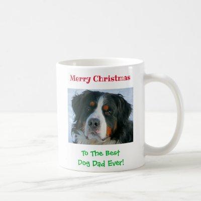 Christmas Best Dog Dad Ever Pet Photo Coffee Mug