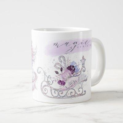 Christmas Holiday - Magic of Christmas - Unicorns Giant Coffee Mug