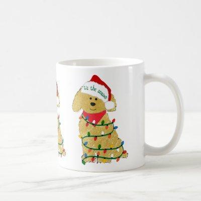 Christmas Lights Goldendoodle Coffee Mug