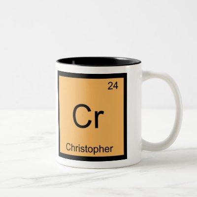 Christopher Name Chemistry Element Periodic Table Two-Tone Coffee Mug