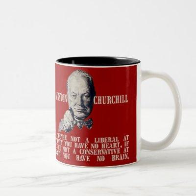 Churchill on Conservatives and Liberals Two-Tone Coffee Mug