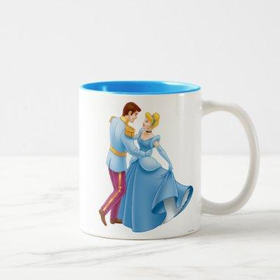 Cinderella and Prince Charming Two-Tone Coffee Mug