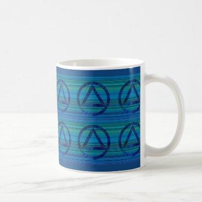 Circle Triangle Recovery Sobriety Coffee Cup Mug