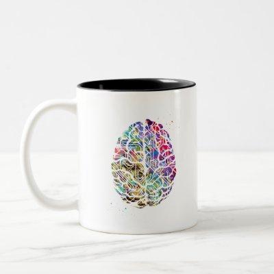 Circuit Brain Two-Tone Coffee Mug