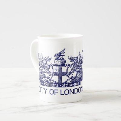 City of London, Vintage, Coat of Arms, England UK Bone China Mug