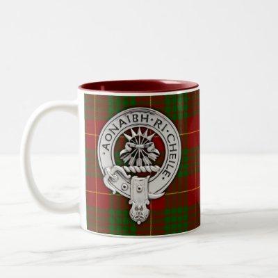 Clan Cameron Crest & Tartan Two-Tone Coffee Mug