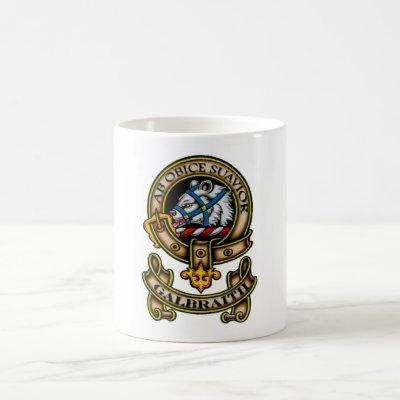 Clan Galbraith Crest - Brown design Coffee Mug