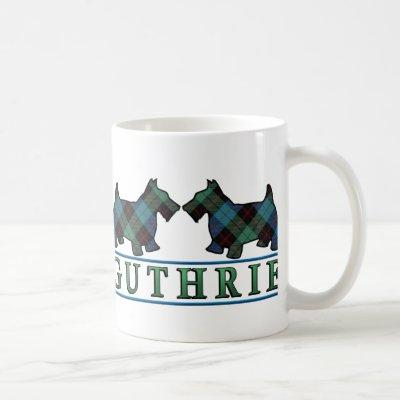 Clan Guthrie Tartan Scottish Scottie Dogs Coffee Mug