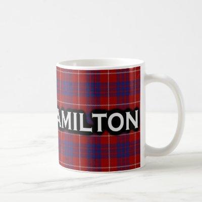 Clan Hamilton Tartan Scottish Coffee Mug