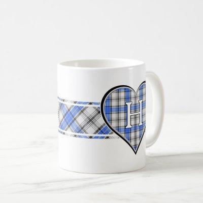 Clan Hannay Tartan Heart Coffee Mug