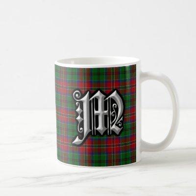 Clan MacCulloch Letter M Monogram Tartan Coffee Mug
