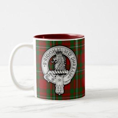 Clan MacGregor Crest & Tartan Two-Tone Coffee Mug