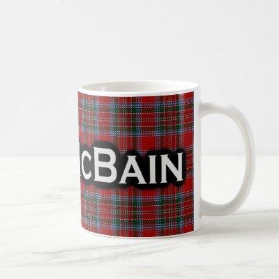 Clan McBain MacBain Tartan Scottish Coffee Mug