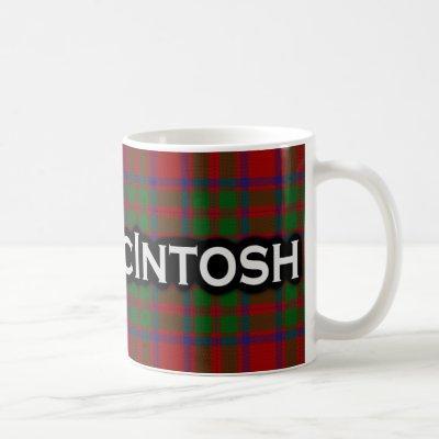 Clan McIntosh Tartan Scottish Coffee Mug