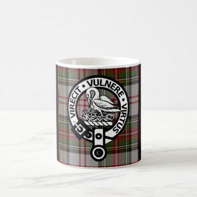 Clan Stewart Crest & Tartan Coffee Mug