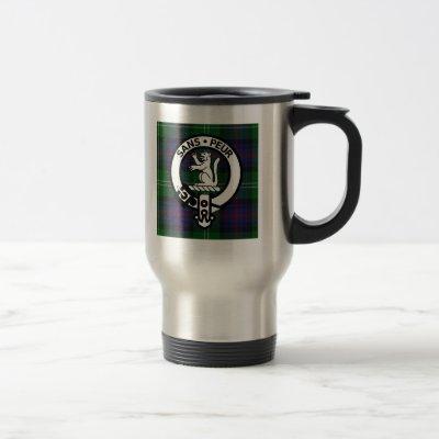Clan Sutherland Crest & Tartan Travel Mug