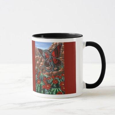 Claret Cup Dragon Fly Mug