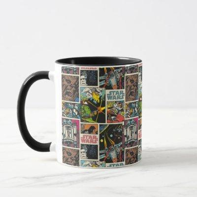 Classic Star Wars Comic Pattern Mug