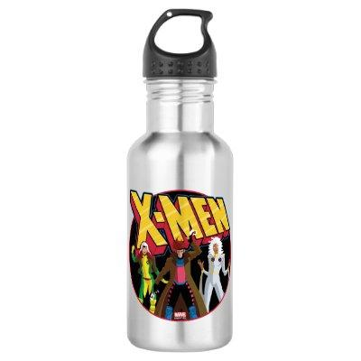 Classic X-Men | Rogue, Gambit, & Storm Icon Stainless Steel Water Bottle