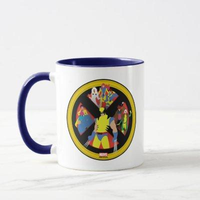 Classic X-Men | Simplified Character Art In Icon Mug