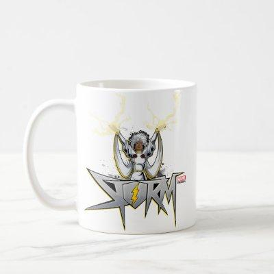 Classic X-Men | Storm Lightning Name Badge Coffee Mug