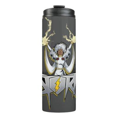 Classic X-Men | Storm Lightning Name Badge Thermal Tumbler
