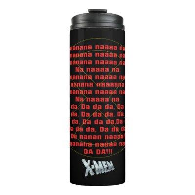 Classic X-Men   Theme Song Graphic Thermal Tumbler
