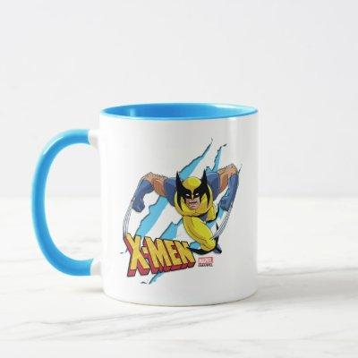 Classic X-Men | Wolverine Slash Pattern Mug