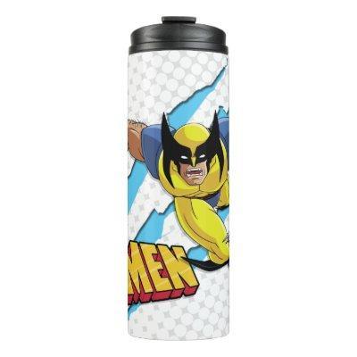 Classic X-Men   Wolverine Slash Pattern Thermal Tumbler